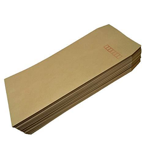 オリジナル封筒印刷 住所印字できる 封筒 ビジネス封筒 クラフト封筒 茶封筒 (長形3号テープ付き)