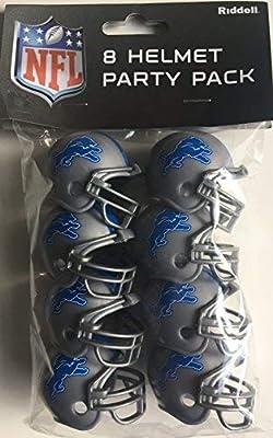 Riddell NFL Detroit Lions Helmet Pocket ProTeam Helmet Party Pack, Team Colors, One Size