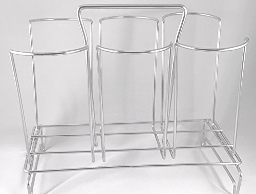 Countertop Water Bottle Storage Holder Drying Rack Holds 6 Large Drinking Glasses Cups Sports Bottles Mason Jars Stainless Steel Bottles Coffee Cups Cutting Boards Plastic Bags Beer Glass Wine