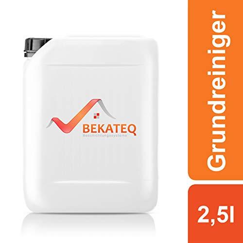 BEKATEQ Reiniger Set, 2,5l Bodenreiniger + Handpad weiß - Grundreiniger BK-240V für Linoleum, Vinyl, PVC, Gummi, Kautschuk