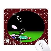 ギャンブルチップ散乱写真 オフィス用雪ゴムマウスパッド