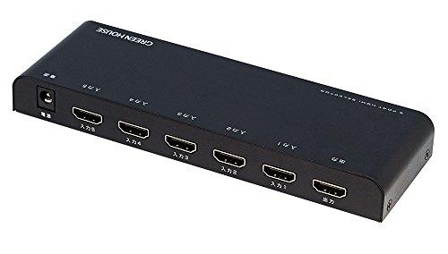 グリーンハウス HDMIセレクタ 手動切り替えモデル Input5+Output1ポート 4K 2K 60p 映像 対応 GH-HSWB5-BK