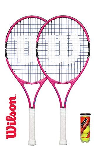 Wilson - Juego 2 raquetas tenis juveniles 25 pulgadas