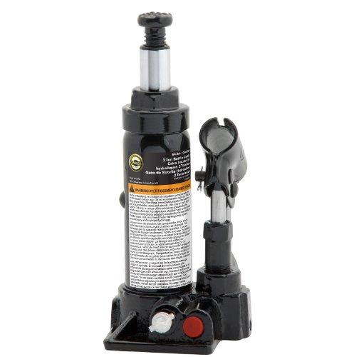 Omega 10025B Black Hydraulic Bottle Jack - 2 Ton Capacity