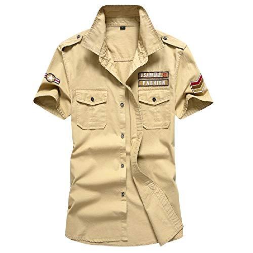 NOBRAND Nieuwe Zomer Militaire Shirt Heren Katoen Short-Sleeved Casual Shirt Heren Grote Maat Airborne Tactische Kamisa Militaire