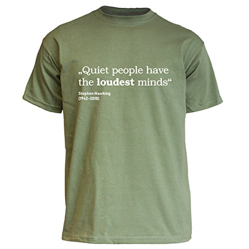 Nukular T-Shirt Quiet People - Stephen Hawking, Farbe Olive, Größe XL