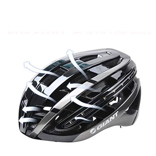 JM- Einteiliger Helm mit Warnrücklichtern Mountain Road Fahrradhelm Reitmütze (Color : B, Size : M)