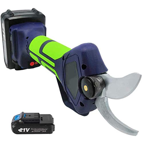 SIRUL Tijeras de podar eléctricas inalámbricas Profesionales de 21 V, diámetro de Corte de 35 mm, podadora eléctrica con batería de Litio de 2000 mAh de Respaldo, 6-8 Horas de Trabajo