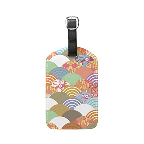 Etiquetas para equipaje Arte Colorido Equipaje Etiquetas de Maleta Nombre Etiqueta de Dirección ID de Cuero para Viajes(1piezas)