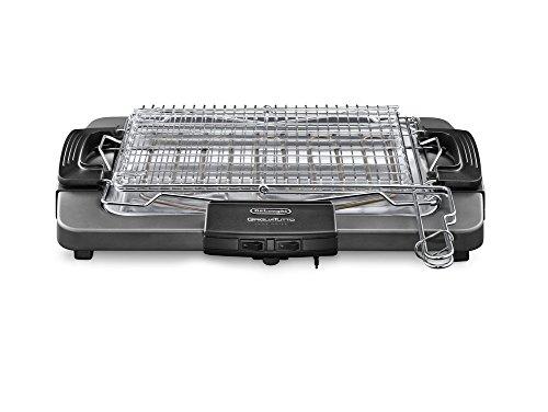 De\'Longhi BQ80 Barbecue elettrico con griglia, 1000/1450/2450 W, Grigio