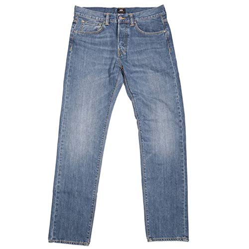 Edwin ED-80 Kingston Blue Clean Washed Slim Tapered Denim Jeans - 30