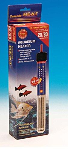 American Paws Pet Products Calentador de Acuario de 20 galones, 100 W, Totalmente Sumergible, Agua Dulce y Salada, Calentador de Tanque de Peces con termostato