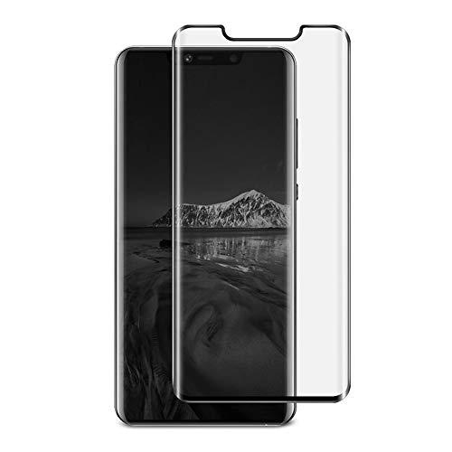 Mate 20 Pro Protector de pantalla de vidrio templado, 2 unidades, vidrio templado curvado real HD transparente sin burbujas, dureza 9H, vidrio templado para Huawei Mate 20 Pro, antiarañazos