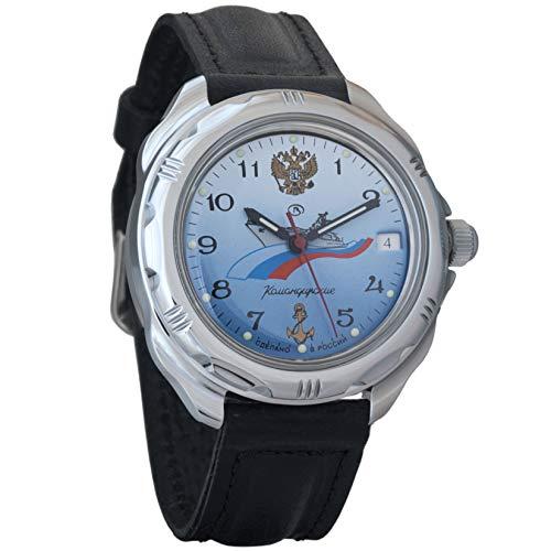 Vostok KOMANDIRSKIE azul marino 2414211619Militar ruso reloj mecánico