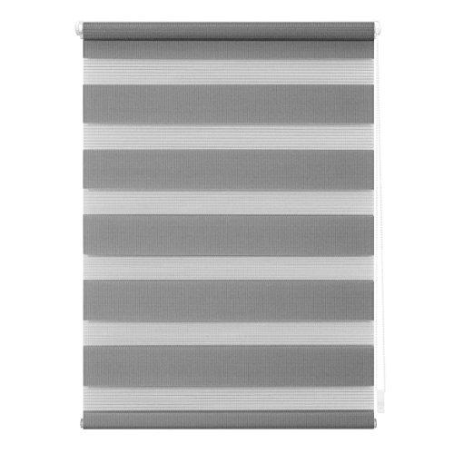 Lichtblick Doppelrollo Klemmfix, 45 cm x 150 cm (B x L) in Grau, ohne Bohren, Duo Rollo für Fenster & Türen, moderner Sichtschutz, Innovative Kombination aus Rollo & Jalousie