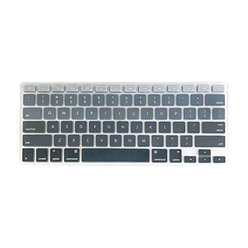 Cubierta de teclado de TPU a prueba de polvo para MacBook Air 13.3 pulgadas A1466/A1369 Colorido Gris