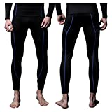 FITEXTREME Mens MAXHEAT Fleece Long Johns Thermal Underwear Bottom Black L