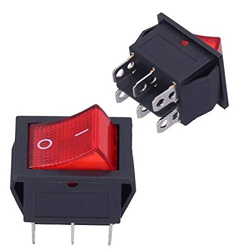 Interruptor de Encendido/Apagado, Interruptor de alimentación basculante de 10 Piezas 15A 250 V para Servicio de Electricista para electrodomésticos para TV