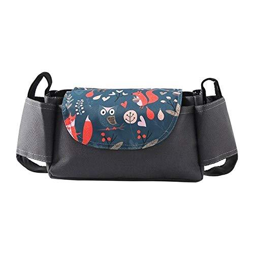 XMYNB Bolsa de almacenamiento para cochecito de bebé, bolsa de almacenamiento con soporte para taza y soporte para teléfono, bolsa para colgar - - A