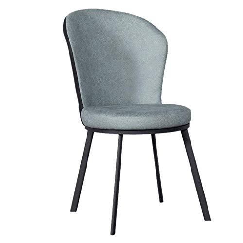 ZSM Moderne einfacher Akzent-Stuhl mit PU-Leder-Runde Gepolsterte Sitz hohen Rückenlehne for Counter Lounge Wohnzimmer Eckstuhl (Sitzhöhe: 48 cm) YMIK