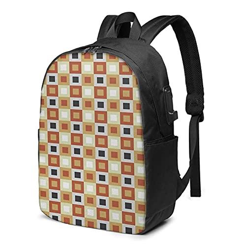 Laptop Rucksack Business Rucksack für 17 Zoll Laptop, Startseite 32 Schulrucksack Mit USB Port für Arbeit Wandern Reisen Camping, für Herren Damen
