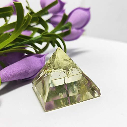 ACEACE 24g Hochwertige Citrin-Kristall-Quarz-Pyramide Steine und Kristalle Obelisk Punkt Gemstone Reiki