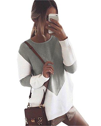 Minetom Mujer Otoño Invierno Suéter Jerseys Punto
