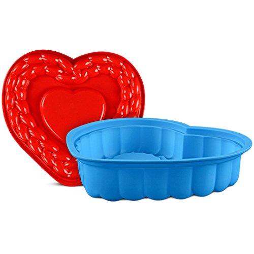 JasCherry Flexibel und Antihafteigenschaft Silikon Backform für Kuchen - BPA-frei Herz #2