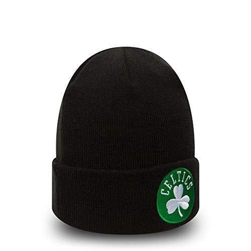 New Era Gestrickt mit Umschlag Boston Celtics Beanie Mütze Team Essential - Schwarz, Schwarz, Einheitsgröße