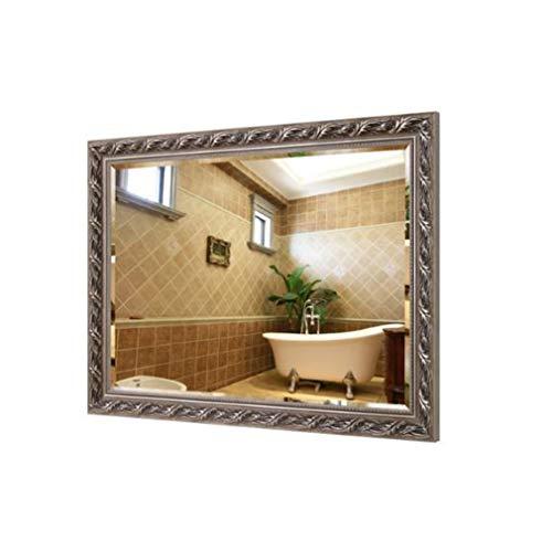 Make-up spiegel make-up spiegel make-up spiegel vintage badkamerspiegel grote make-up spiegel massief houten frame muur bevestigd rechthoek hal slaapkamer decoratieve spiegel W12044 50*70cm B