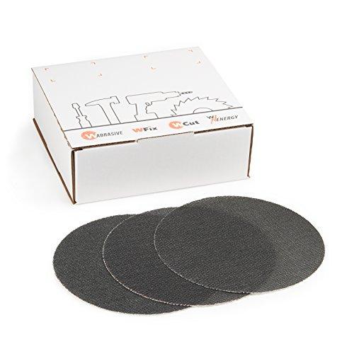 Wabrasive - Discos de lija de papel de lija con velcro • Adecuado para lijadoras de techo, lijadoras de construcción en seco y lijadoras de disco • Diámetro de 225 mm