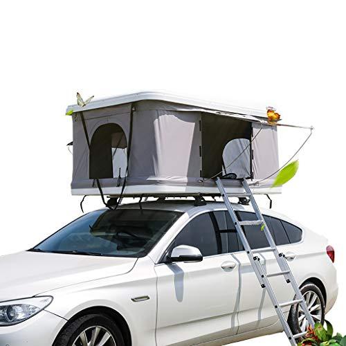 Hydraulische Auto Daktent Automatische Zelfrijdende Tour ABS Hard Shell Buiten, Geschikt voor 2-3 Volwassenen, met Uitgebreide Ladder En Camping Lichten
