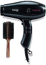 Cortex Professional Torrid 500 1875 Watt Professional Hair Dryer with 2 piece Nozzle 2.5 Inch Wood Boy Boar hair Brush Bundle (Black)