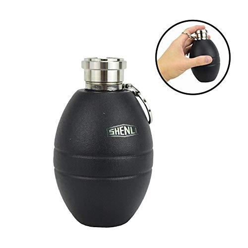 SHENLI Wasserflasche Grenade Granate Outdoor Flasche Trinkflasche Bundeswehr Design - 300ml - Blau