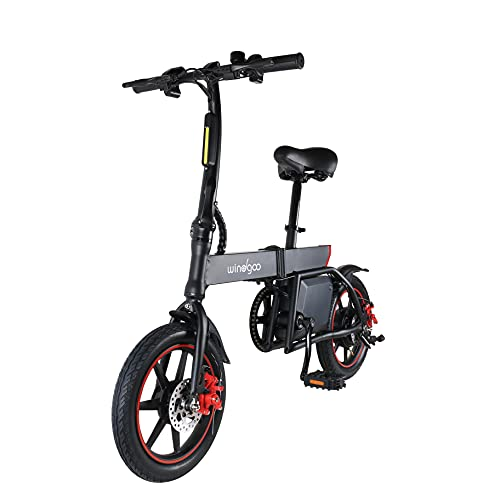 Windgoo Elektrofahrrad B20 36V 6.0AH Schwarz Faltbares E-Bike 14 Zoll Mini-Elektrofahrrader
