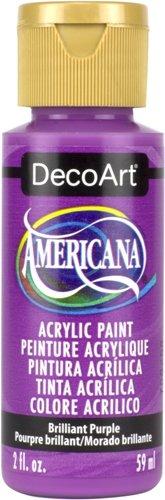 DecoArt 2 Ounce, Brilliant Purple Americana Craft Paint, 2 oz