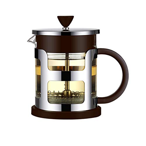 Hand coffee pot tea maker coffee 600ml-Best Polished Stainless Steel Coffee Percolator with Permanent Filter and Heat Resistant Handle - Perfect for Home and Office Use