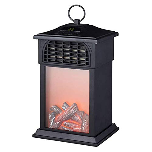 DGYAXIN Calefactor de llama de pequeño viento, calefactor eléctrico vertical, tipo chimenea, protección contra sobrecalentamiento, efecto llama realista, para casa o oficina