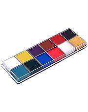 Cozyhoma Gezicht Body Paint 12 Flash Kleuren Gezicht Olieverf Art Make-up Palet Make-up Tool voor Art Thema Party Halloween Fancy Dress Party