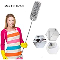 Furein Microfiber Duster for Cleaning with Extension Pole