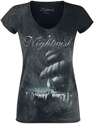 Nightwish Woe To All Mujer Camiseta Negro 3XL, 100% algodón, Regular