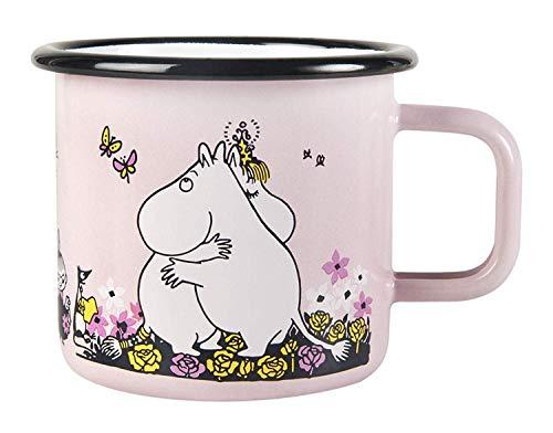 Muurla - Henkelbecher Henkeltasse Emailletasse - Mumin - Moomin Hug - Emaille - Pink - 370 ml