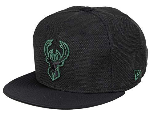 New Era Milwaukee Bucks 59fifty Basecap NBA Diamond Prene Black - 7 3/4-62cm