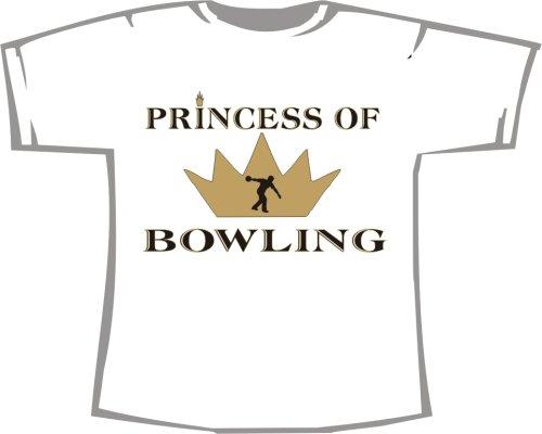 Princess of Bowling; T-Shirt weiß, Gr. 4XL; Unisex