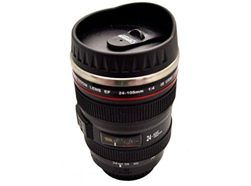 Silicone Or sg3109 Mug Objectif, Acier Inoxydable, Noir, 16 x 7 x 7 cm