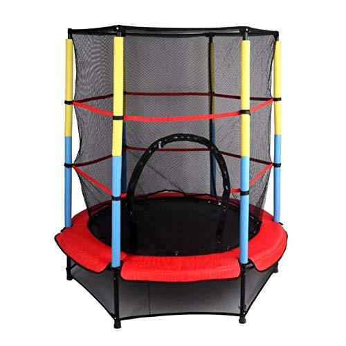 ZHAOJBC Trampoline voor kinderen, voor fitness, met hek net & Oslash; 140 cm – design elastisch touw – maximale belasting 50 kg