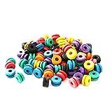 Onwon 200 Pieces Tattoo Needle Machine Grommets Double Grommets Tattoo Machine Parts A-bar Nipple Supply Mix Colors