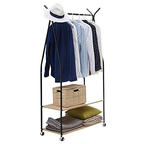 POETRY Cloakrooms Acreative Hanger 2 Storey Hall jacking apparaat metalen multifunctionele opslag schoen standaard met Top Rod 90X39X172Cm een