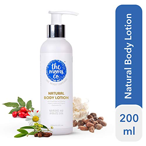 The Moms Co. Natural Calming Body Lotion for summer, (200ml) with Organic Chamomile Oil and Organic Jojoba Oil