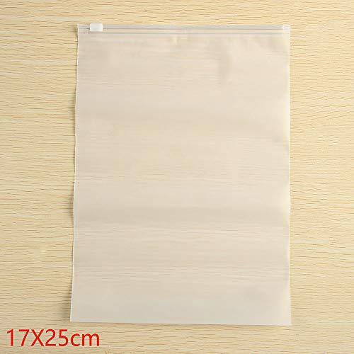 topbuyer Sac en Plastique Portable Valise imperméables à l'eau Tissu Organisateur translucide ziplock Sachet 5PCS(17x25cm)